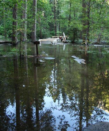 flooded Yosemite campground