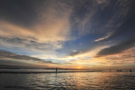 mallorca: Beautiful cloudscape over the sea, sunrise shot Stock Photo
