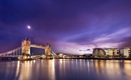 Panorama view of London tower bridge and Financial buildings . Stockfoto
