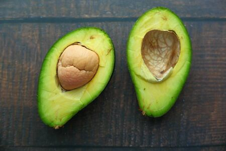 Close up of fresh avocado on table