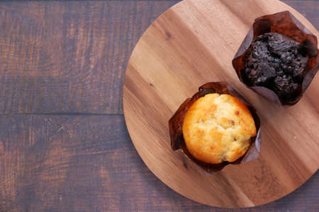 top view of Muffins on Table