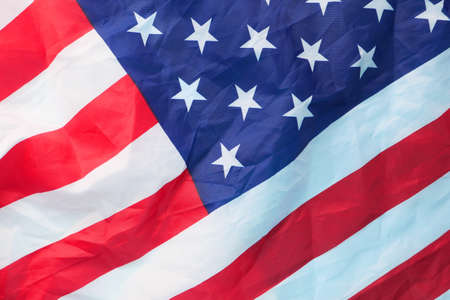 american flag on black background with copy space , Stock Photo