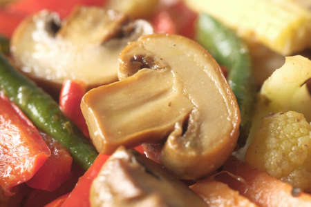 close up of homemade vegetable salad on plate Stockfoto