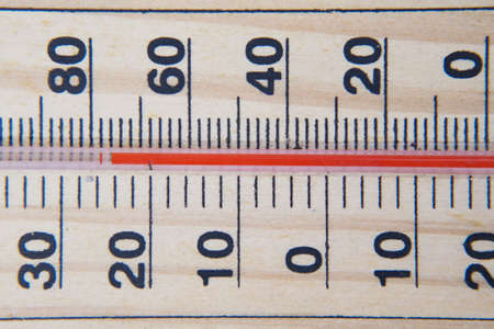Close up of Temperature measurement tools on table.