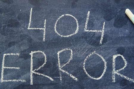 404 error word on a chopping board on table Фото со стока