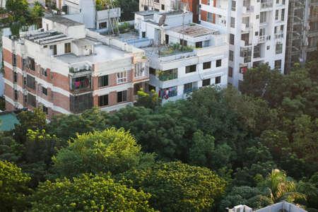 dhaka city buildings at sunny day