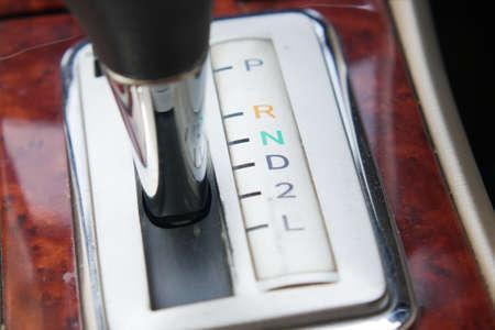 detail shot of a car gear Standard-Bild