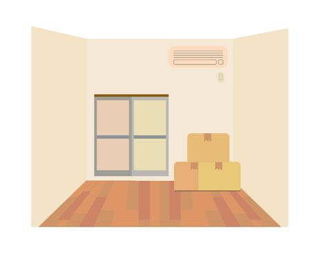 Illustration of a room with furnature. Ilustração