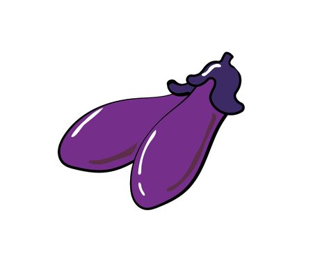 Illustration of a simple two eggplant.