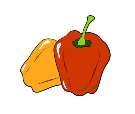 Illustration of a simple paprika.