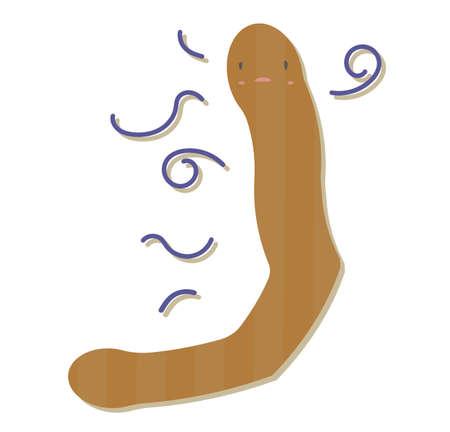 Illustration of simple unhealthy poo.
