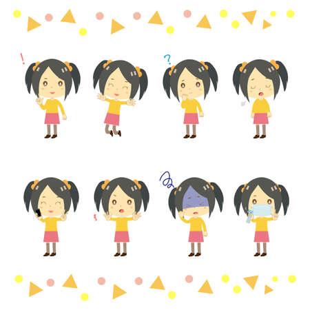 Illustration of a girl. 矢量图像