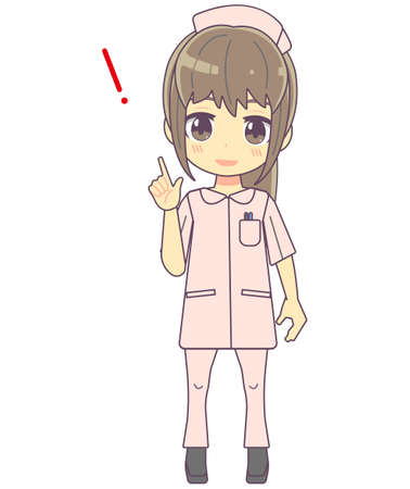 Illustration of a nurse who came up with something.