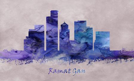 Ramat Gan City in Israel, skyline