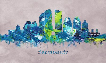 Sacramento City in California, skyline