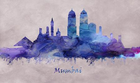 Mumbai City in Maharashtra India, skyline