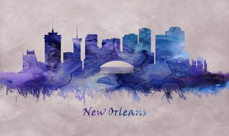 New Orleans City in Louisiana, skyline