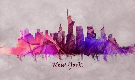 New York City in USA, skyline