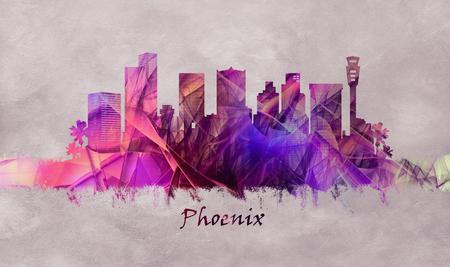 Phoenix City in Arizona, skyline