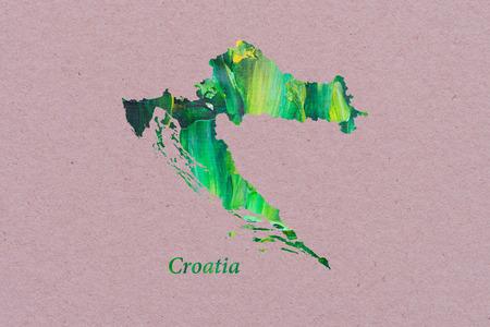 Artistic Map of Croatia