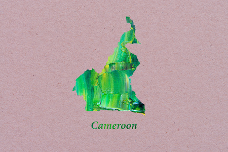 Artistic Map of Cameroon