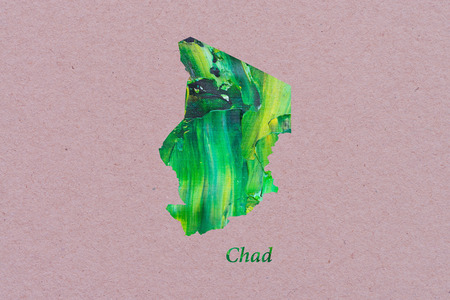 Artistic Map of Chad
