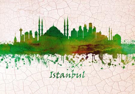 Istanbul Turkey skyline Stok Fotoğraf