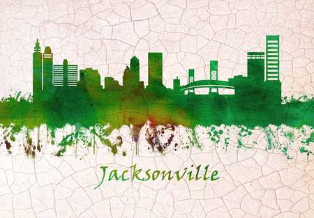 Jacksonville Florida skyline Stock Photo
