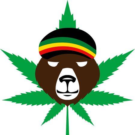 reggae style avatar - brown bear rastaman