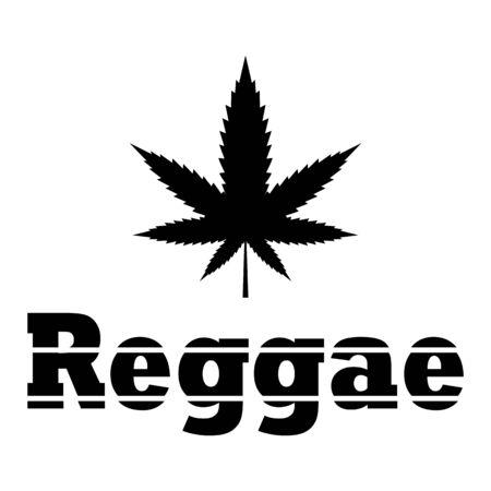marijuana, weed poster - reggae Illustration