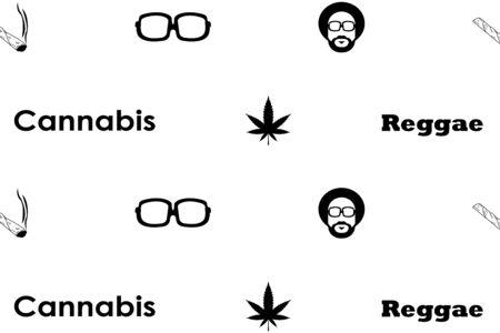 Rastaman - cannabis. Hemp icon