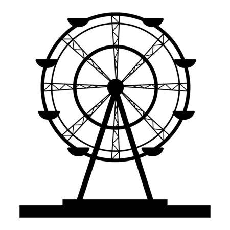 Ferris wheel vector - amusement park - base - carousel 矢量图片
