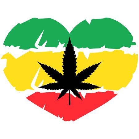 cannabis or marijuana green vector leaf - hemp Illustration