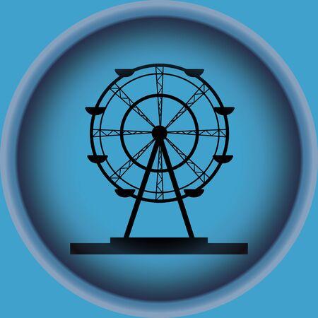 Ferris wheel vector - amusement park - base - carousel