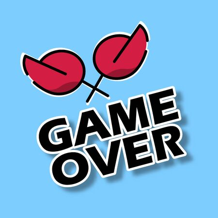 Game over icon for web and game Иллюстрация