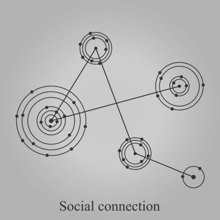 Network vector icon - social connection illustration