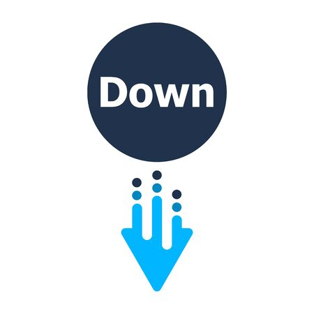 Arrow Down icon - button for web site Иллюстрация