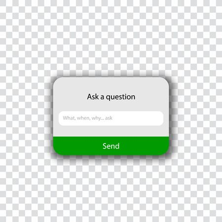 Ask a question template - ask me