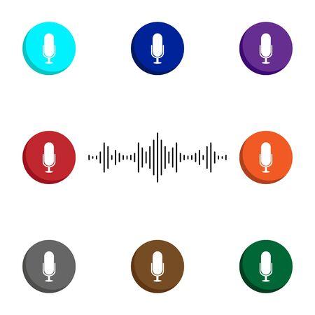 Personal assistant icon - voice assistant soundwave illustration Illustration