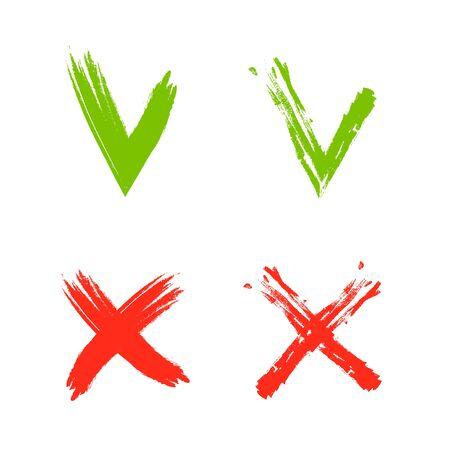 Set check marks - selection buttons illustration