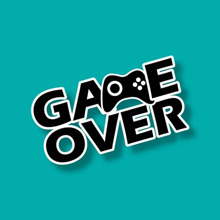 Text Game over  illustration