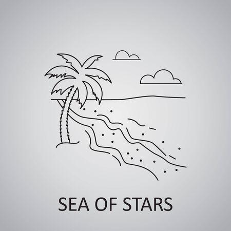 Vaadhoo Island, Maldives. Sea of Stars icon