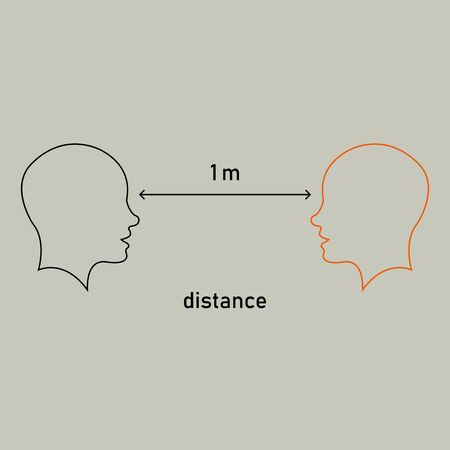 Social distancing, keep distance in public place