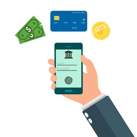 Online Banking Mobile Apps. Transfer, bill payment. Money transfer. Different payment method