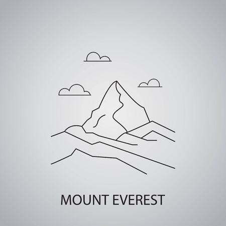 Mount everest in Nepal, Himalayas
