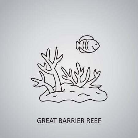 Great Barrier Reef in Australia. Coral Sea. Underwater world