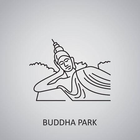 Buddha Park in Laos, Vientiane. Buddha Statue icon