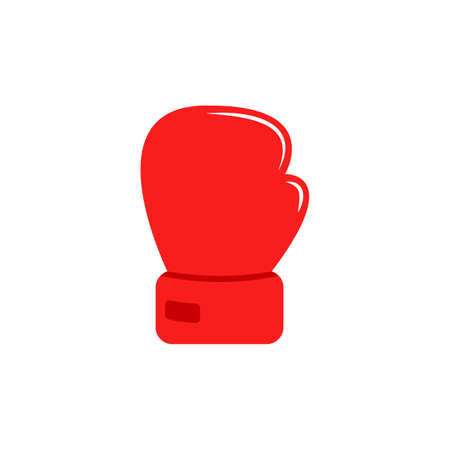 Red glove for boxing. Isolated cartoon icon. Vector. Flat icon 矢量图像