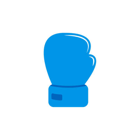 Blue glove for boxing. Isolated cartoon icon. Vector. Flat icon