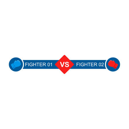 Versus Battle template vector. Boxing gloves fight. VS icon for game 矢量图像